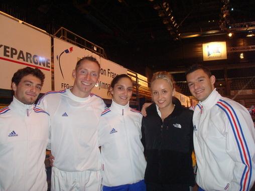 Morgan, Julien, Aurélie et Nicolas en compagnie de Nastia Liukin, championne olympique!