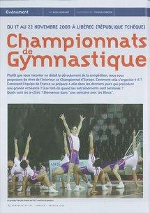 """Les gymnastes aixois à la """"une"""" de la revue de la fédération française de Gymnastique!"""