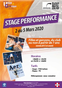 Stage Gym Performance - 2 au 5 Mars 2020