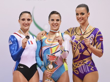 aurélie,vice championne du monde avec sara moreno(1ere) et lioubov gazov (3ème)