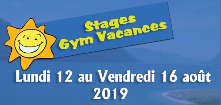 Stage vacances août 2019