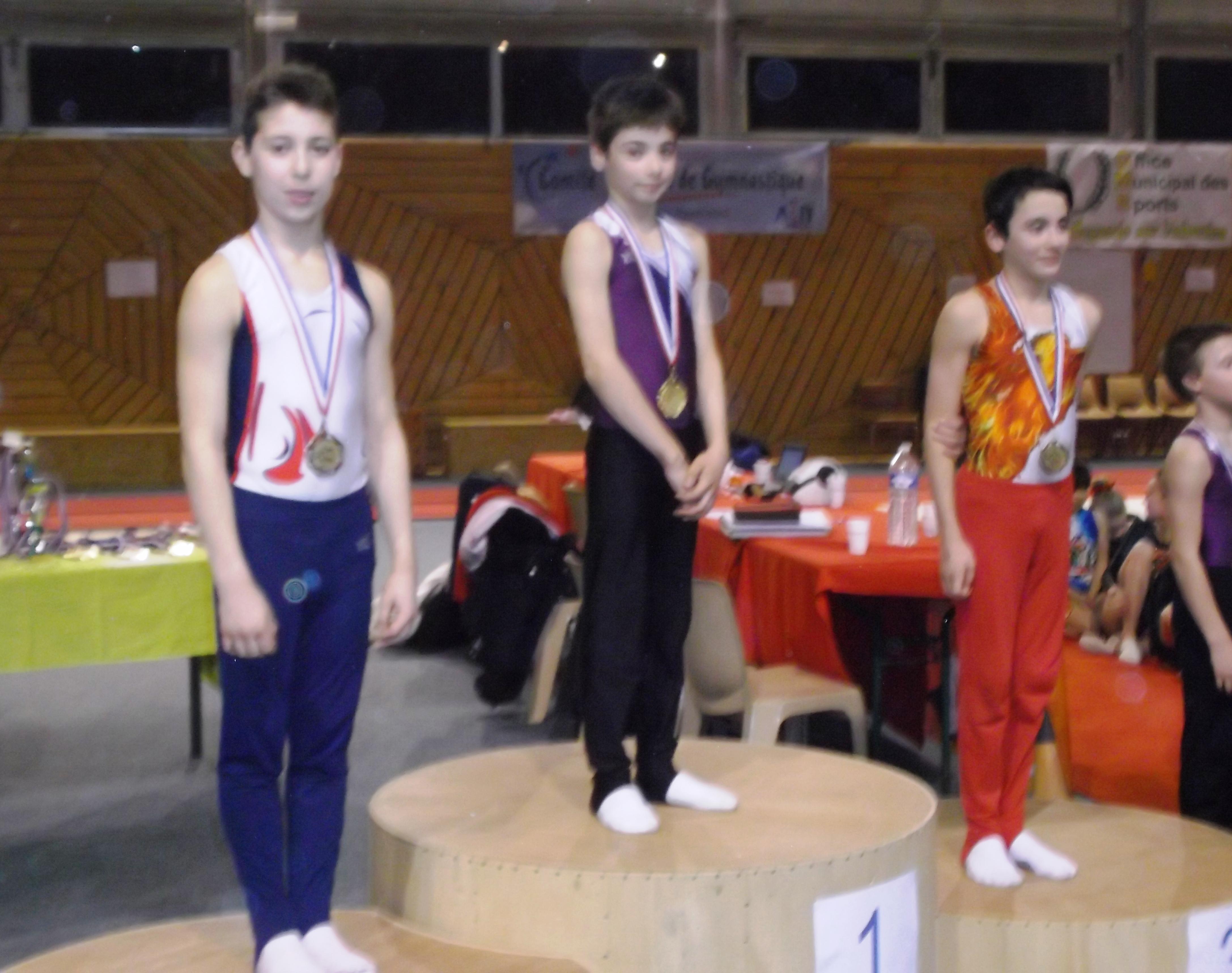 Anthony Marcellot , champion régional, Martin Rvier (Chassieu) 2ème