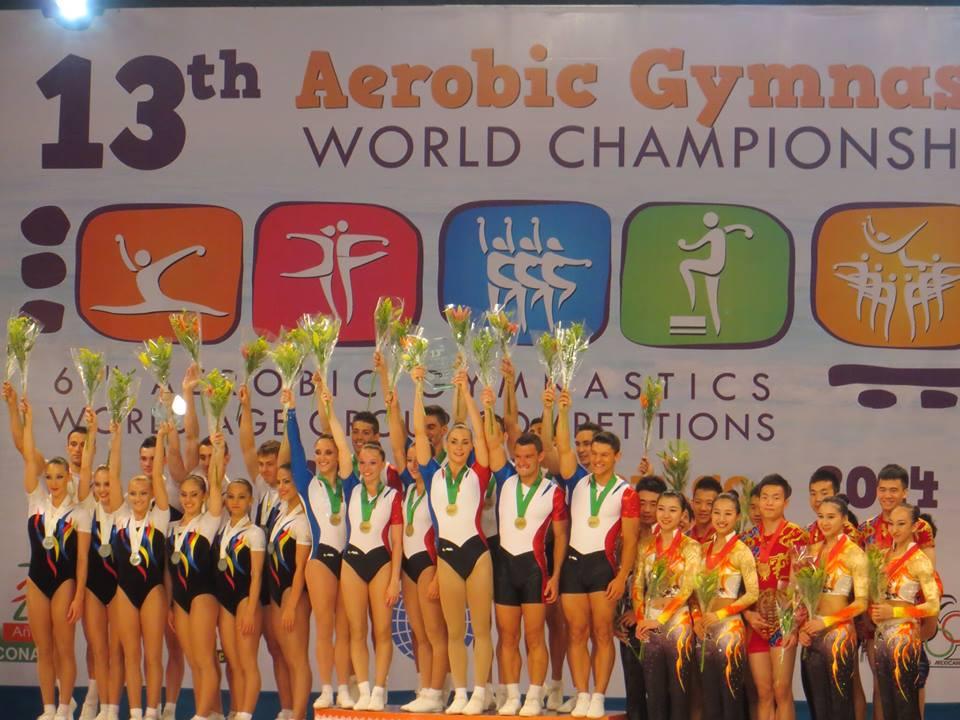 Aérobic - La France Championne du Monde par équipe à CANCUN !