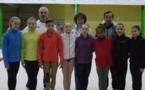Les pensionnaires du pôle de gymnastique artistique de St Etienne en stage à Aix!